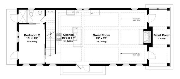Beach Floor Plan - Main Floor Plan Plan #443-18