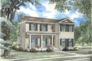 Southern Style House Plan - 3 Beds 2 Baths 1559 Sq/Ft Plan #17-2005 Exterior - Front Elevation