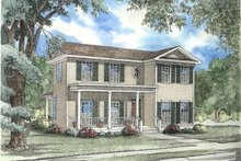 House Plan Design - Southern Exterior - Front Elevation Plan #17-2005