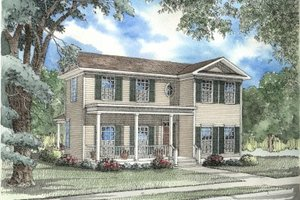 Southern Exterior - Front Elevation Plan #17-2005