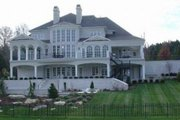 Classical Style House Plan - 5 Beds 6.5 Baths 5691 Sq/Ft Plan #119-180 Exterior - Rear Elevation