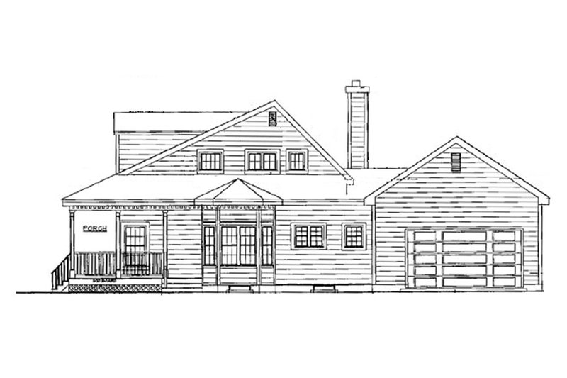Country Exterior - Other Elevation Plan #3-183 - Houseplans.com