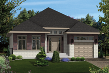 Dream House Plan - Contemporary Exterior - Front Elevation Plan #25-4277
