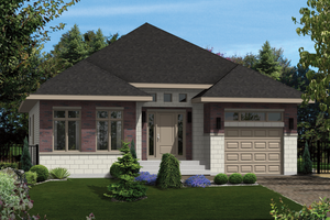Contemporary Exterior - Front Elevation Plan #25-4277