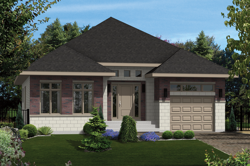 Contemporary Style House Plan - 2 Beds 1 Baths 1197 Sq/Ft Plan #25-4277 Exterior - Front Elevation