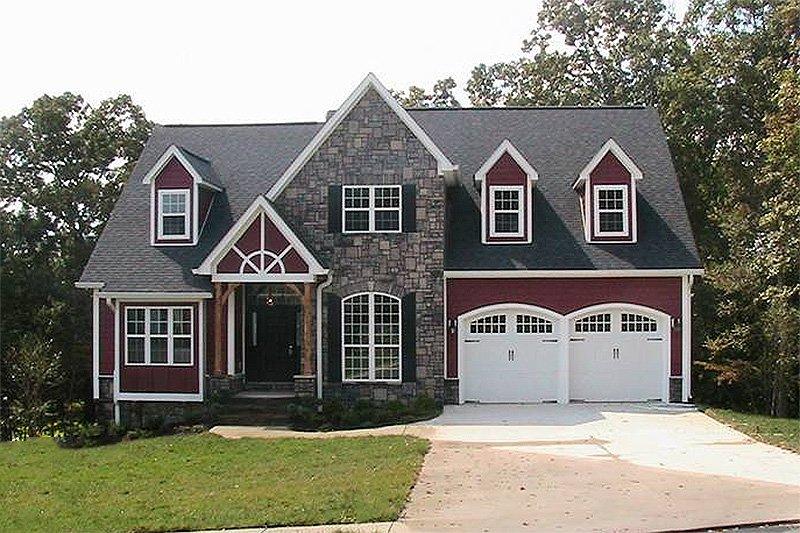 Craftsman Exterior - Front Elevation Plan #48-107 - Houseplans.com