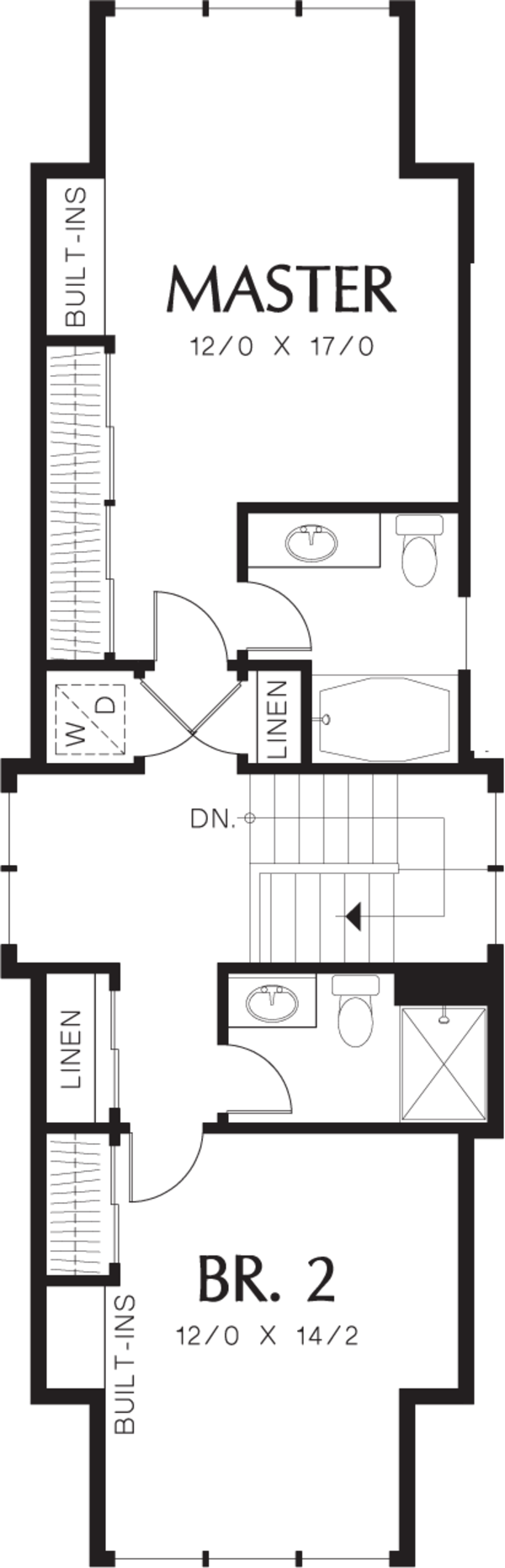 Cottage Floor Plan - Upper Floor Plan Plan #48-570