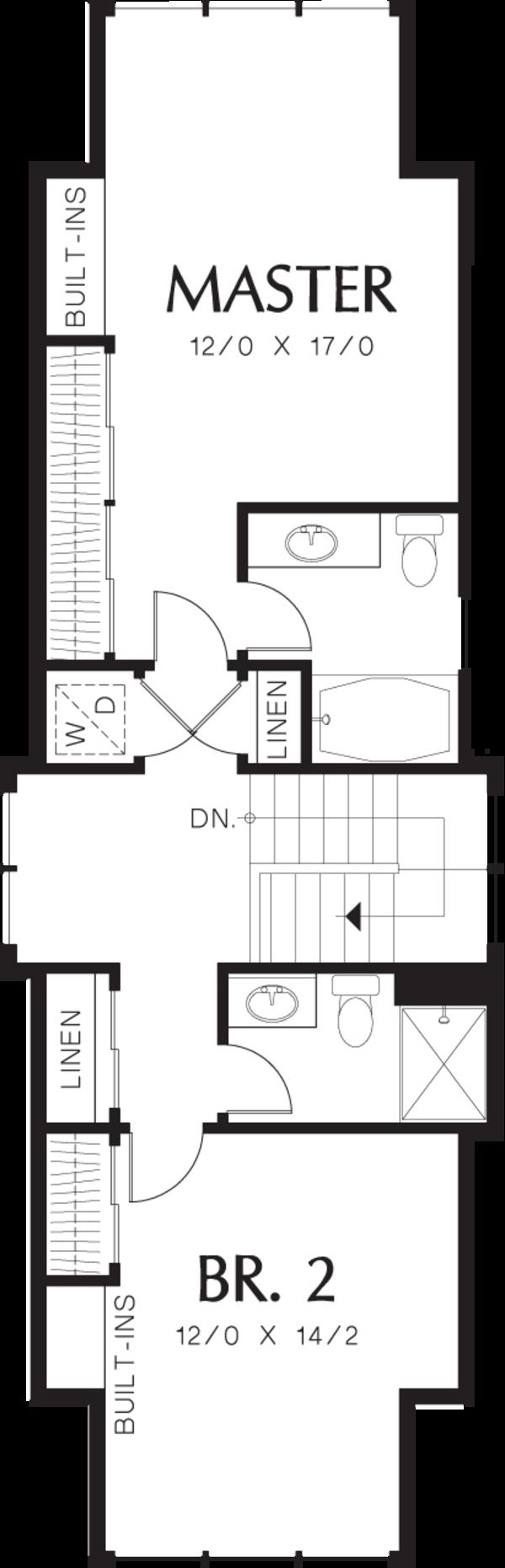 Cottage Floor Plan - Upper Floor Plan Plan #48-570