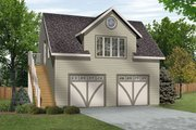 Traditional Style House Plan - 1 Beds 1 Baths 511 Sq/Ft Plan #22-564 Exterior - Front Elevation