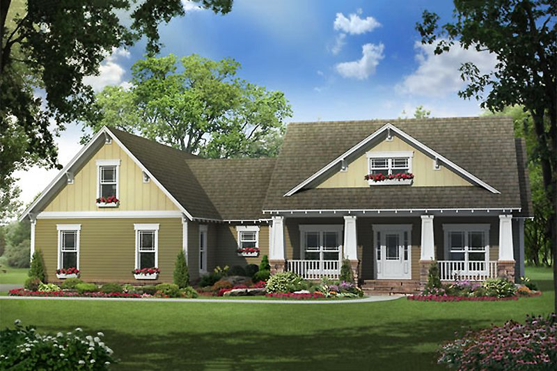 Dream House Plan - Traditional Exterior - Front Elevation Plan #21-290