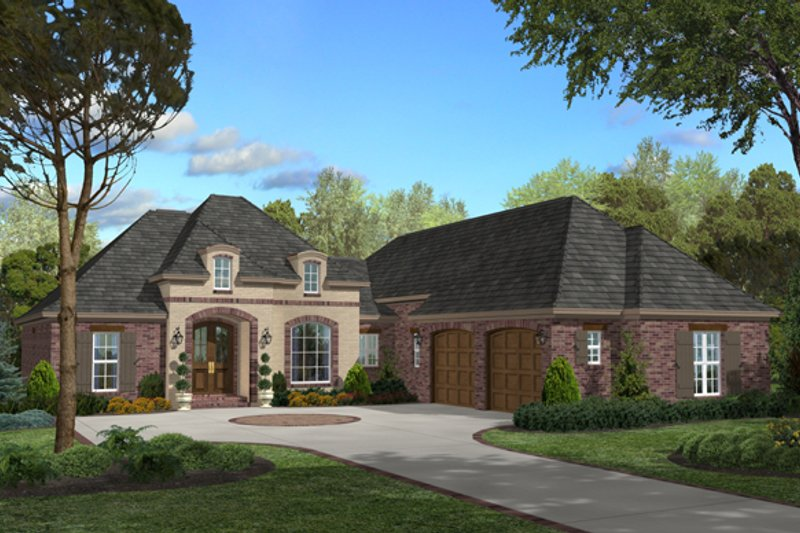 European Style House Plan - 3 Beds 2 Baths 2200 Sq/Ft Plan #430-46 Exterior - Front Elevation