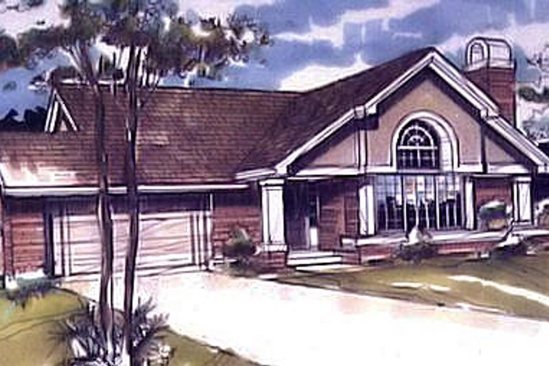Exterior - Front Elevation Plan #320-480