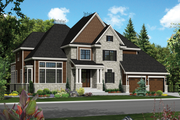 Traditional Style House Plan - 3 Beds 2 Baths 3837 Sq/Ft Plan #25-4490 Exterior - Front Elevation
