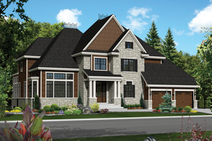 Traditional Exterior - Front Elevation Plan #25-4490