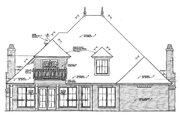 European Style House Plan - 4 Beds 3.5 Baths 3335 Sq/Ft Plan #310-500 Exterior - Rear Elevation