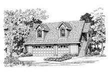 Country Exterior - Front Elevation Plan #72-288