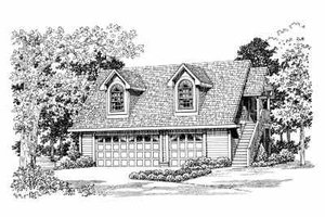 House Plan Design - Country Exterior - Front Elevation Plan #72-288