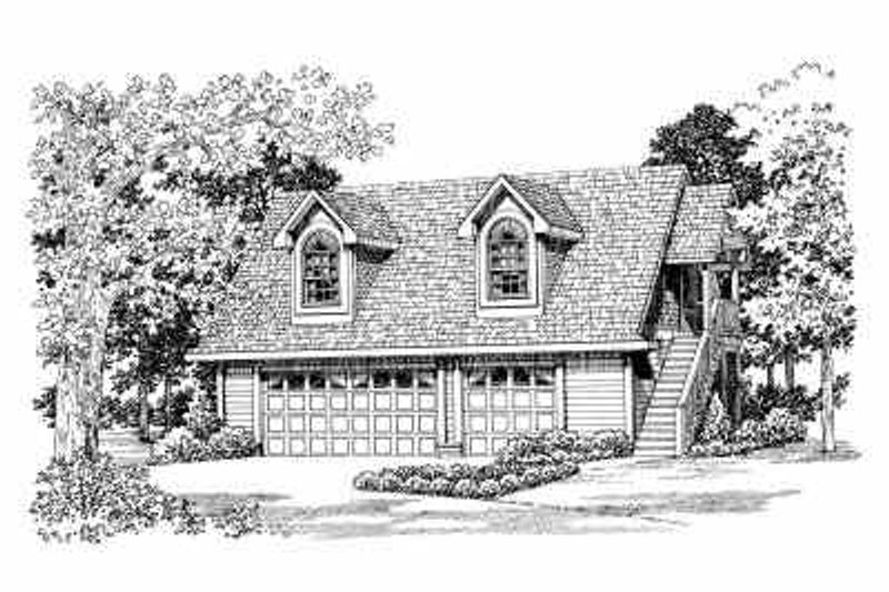 House Blueprint - Country Exterior - Front Elevation Plan #72-288
