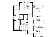 Craftsman Style House Plan - 6 Beds 3.5 Baths 3254 Sq/Ft Plan #48-345 Floor Plan - Upper Floor Plan