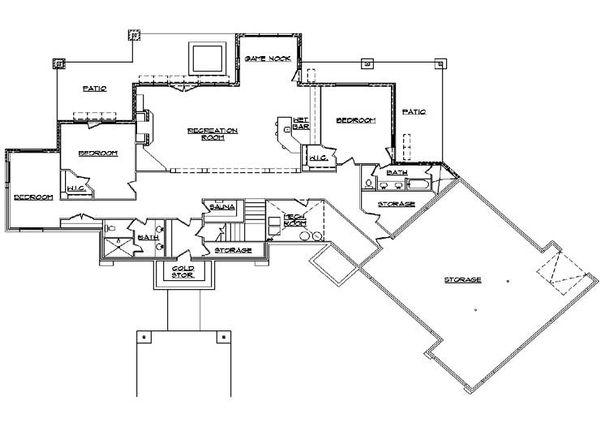 Traditional Floor Plan - Lower Floor Plan Plan #5-344