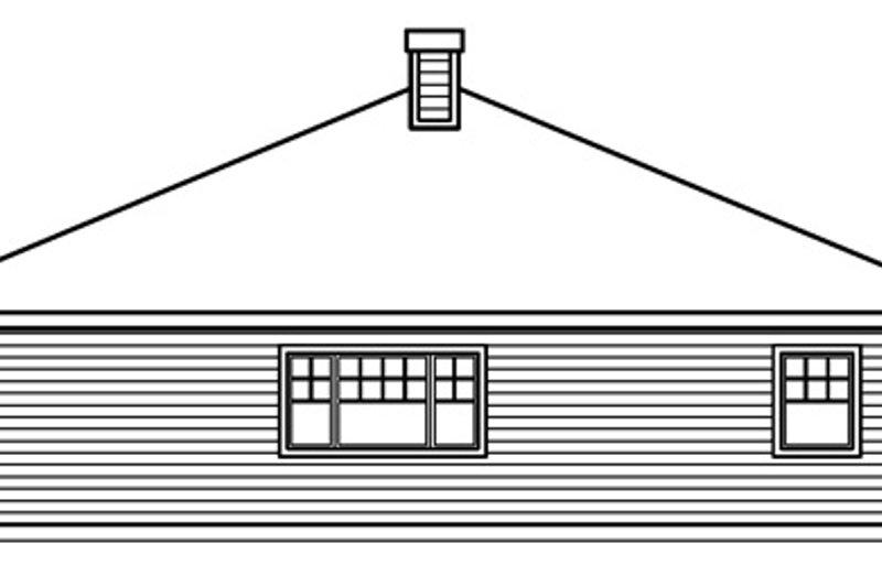 Cottage Exterior - Rear Elevation Plan #124-364 - Houseplans.com