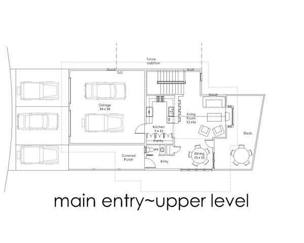 Modern Floor Plan - Upper Floor Plan #902-4