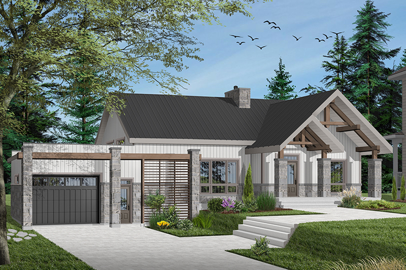 Ranch Exterior - Front Elevation Plan #23-2649