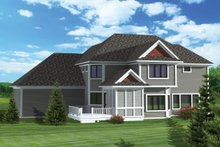 Craftsman Exterior - Rear Elevation Plan #70-1062