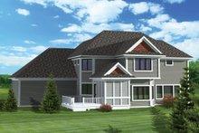 Home Plan - Craftsman Exterior - Rear Elevation Plan #70-1062