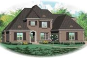 European Style House Plan - 5 Beds 4 Baths 4391 Sq/Ft Plan #81-1323 Exterior - Front Elevation