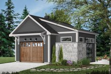 Dream House Plan - Craftsman Exterior - Front Elevation Plan #23-2717