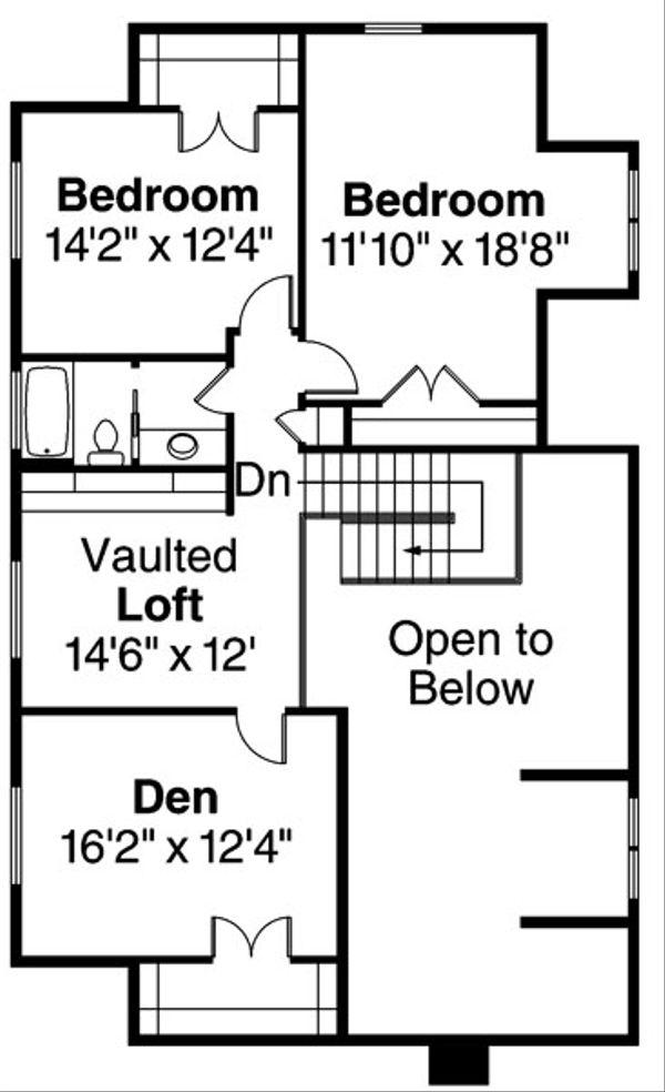 Country Floor Plan - Upper Floor Plan Plan #124-771