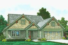 Architectural House Design - Craftsman Exterior - Front Elevation Plan #310-1313