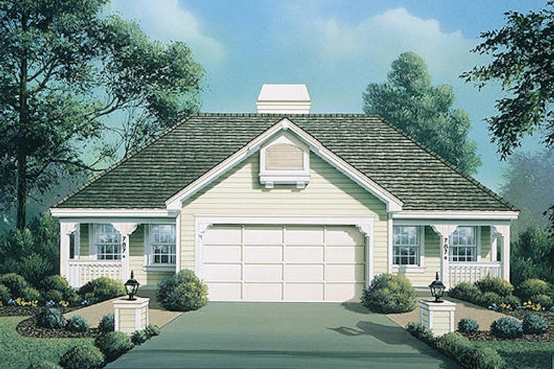 Country Exterior - Front Elevation Plan #57-572
