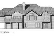 Ranch Style House Plan - 3 Beds 3.5 Baths 3513 Sq/Ft Plan #70-351 Exterior - Rear Elevation