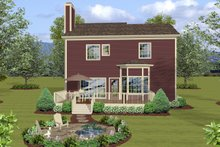 House Design - Craftsman Exterior - Rear Elevation Plan #56-722