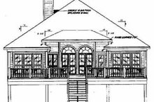 Beach Exterior - Rear Elevation Plan #37-135