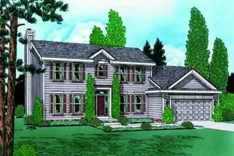 Colonial Exterior - Front Elevation Plan #20-645 - Houseplans.com