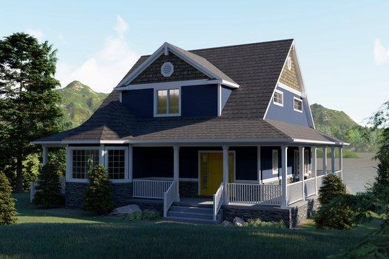 Craftsman Exterior - Front Elevation Plan #1064-15