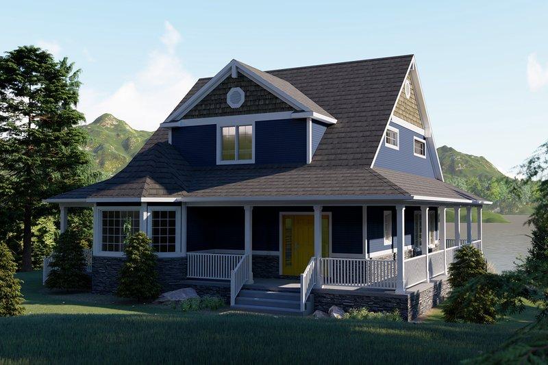 Architectural House Design - Craftsman Exterior - Front Elevation Plan #1064-15