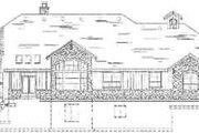 Craftsman Style House Plan - 6 Beds 4 Baths 6105 Sq/Ft Plan #5-170 Exterior - Rear Elevation