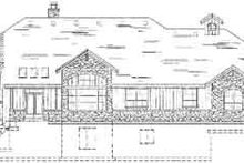 Craftsman Exterior - Rear Elevation Plan #5-170