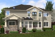Traditional Style House Plan - 5 Beds 3 Baths 3680 Sq/Ft Plan #132-569 Exterior - Rear Elevation