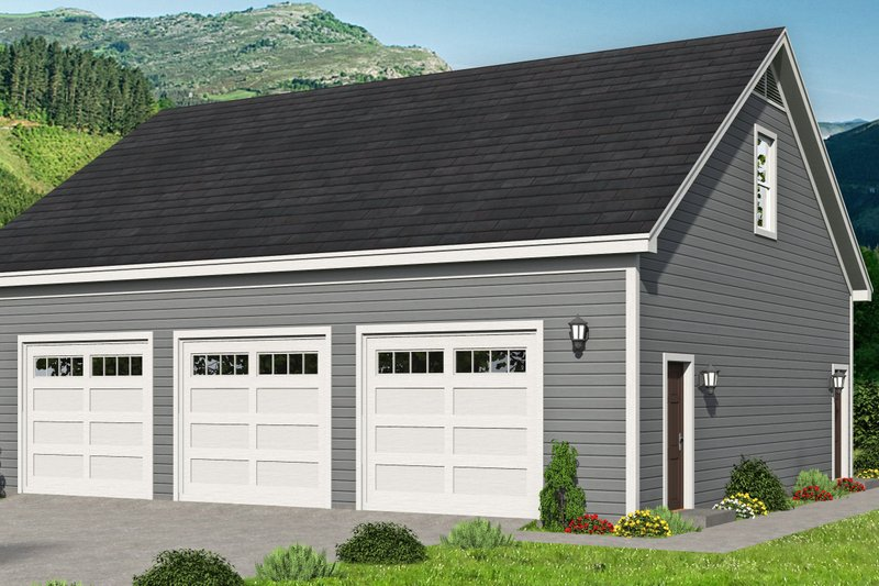 Home Plan - Contemporary Exterior - Front Elevation Plan #932-342