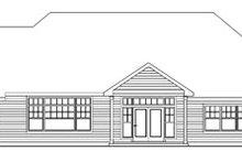 Dream House Plan - Craftsman Exterior - Rear Elevation Plan #124-758