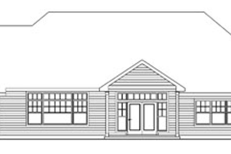 Craftsman Exterior - Rear Elevation Plan #124-758 - Houseplans.com
