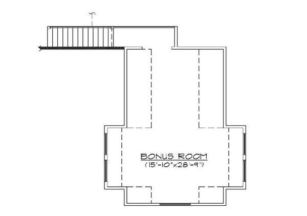Ranch Floor Plan - Upper Floor Plan Plan #5-387