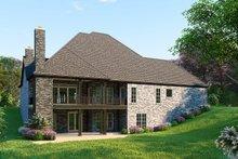 Dream House Plan - European Exterior - Rear Elevation Plan #923-95