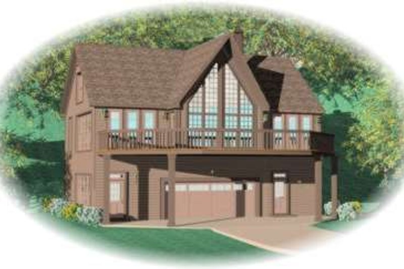 Modern Style House Plan - 2 Beds 2 Baths 2263 Sq/Ft Plan #81-746 Exterior - Front Elevation