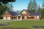 Traditional Style House Plan - 2 Beds 2.5 Baths 2177 Sq/Ft Plan #117-462 Exterior - Front Elevation